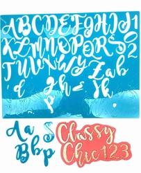 Paku Malzeme - Calligraphy Stamp Alfabe CLASSY