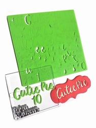 Paku Malzeme - Calligraphy Stamp Alfabe CUTIE PIE