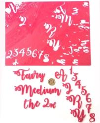 Paku Malzeme - Calligraphy Stamp Alfabe FAIRY MEDIUM +mini baskı plakası