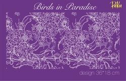 Paku Malzeme - Mesh Stencil; Birds in Paradise