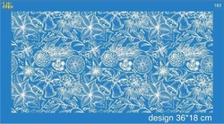 Paku Malzeme - Mesh Stencil Crystal Collection; Citrus Concept