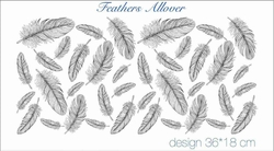 Paku Malzeme - Mesh Stencil Crystal Collection; Feathers Allover