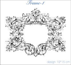 Paku Malzeme - Mesh Stencil Crystal Collection; Frame-1