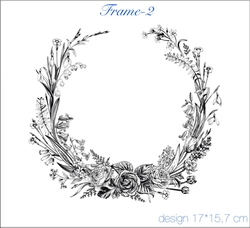 Paku Malzeme - Mesh Stencil Crystal Collection; Frame-2