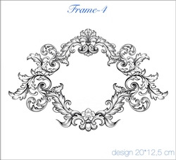 Paku Malzeme - Mesh Stencil Crystal Collection; Frame-4