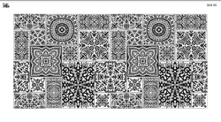 Paku Malzeme - Mesh Stencil Crystal Collection; Kintsukuroi (35*17 cm)