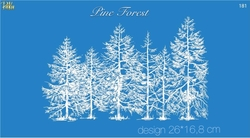 Paku Malzeme - Mesh Stencil Crystal Collection; Pine Forest