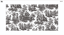Paku Malzeme - Mesh Stencil Crystal Collection; Waverly Toile (32,5*16 cm)
