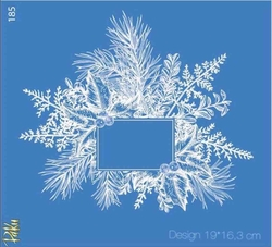 Paku Malzeme - Mesh Stencil Crystal Collection; Winterland Frame
