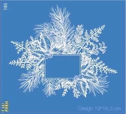 Paku Malzeme - Mesh Stencil Crystal Collection; Winterland Frame