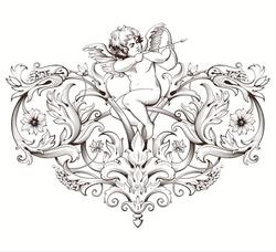 Paku Malzeme - Mesh Stencil; Dreamy Angels-3 (1)