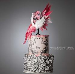 Paku Malzeme - Mesh Stencil; Flamingo Love (1)