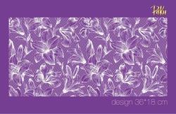 Paku Malzeme - Mesh Stencil; Lilies on Lace