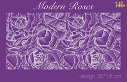 Paku Malzeme - Mesh Stencil; Modern Roses