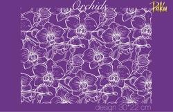 Paku Malzeme - Mesh Stencil; Orchids