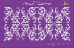 Mesh Stencil; Scroll Damask - Thumbnail
