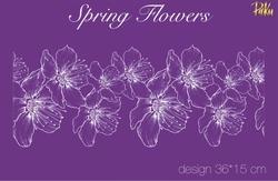 Paku Malzeme - Mesh Stencil; Spring Flowers