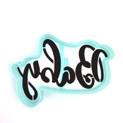 Paku Malzeme - Plastik kalıp Baby Capitals yazı; 9,3*6,5 cm