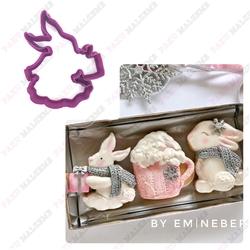 Paku Malzeme - Plastik kalıp Bunny; 9*7 cm