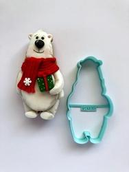 Paku Malzeme - Plastik kalıp Cute Kutup Ayısı; 10,5*5,4 cm