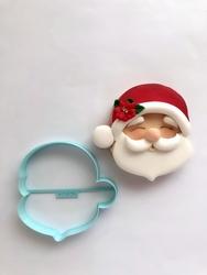 Paku Malzeme - Plastik kalıp Cute Noelbaba; 8,7*8,5 cm