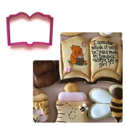 Paku Malzeme - Plastik kalıp Kitap; 9,4*7 cm