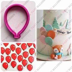 Paku Malzeme - Plastik Kalıp Mini Balon; 3,7*2,6 cm