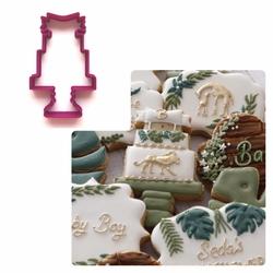 Paku Malzeme - Plastik kalıp Pasta Standı w/banner; 10*6,3 cm