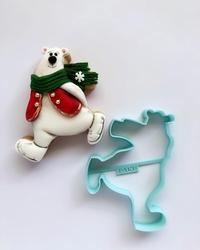 Paku Malzeme - Plastik kalıp Skating Kutup Ayısı; 10*8,1 cm