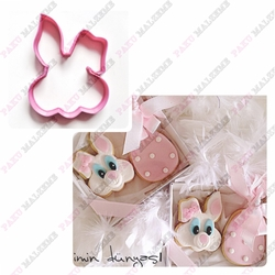 Paku Malzeme - Plastik Kalıp Tavşan; 9*7 cm