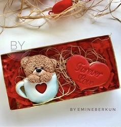 Paku Malzeme - Plastik kalıp Teddy in a Cup Ayıcık; 9,8*8,5 cm (1)