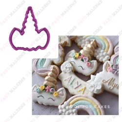 Paku Malzeme - Plastik kalıp Unicorn Boynuz; 8,4*7,5 cm