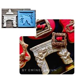 Paku Malzeme - Silikon Barok Şömine; 10*9,3 cm