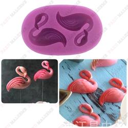 Paku Malzeme - Silikon kalıp 2li Flamingo; 7,5*4,5 cm