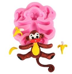 Paku Malzeme - Silikon kalıp Bebek Maymun; 8*7,5 CM
