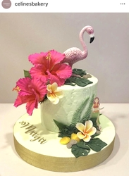 Paku Malzeme - Silikon kalıp Big Flamingo; 12,5*10,6 cm (1)