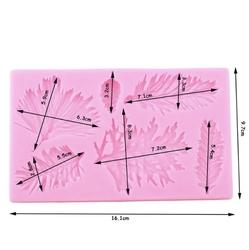 Paku Malzeme - Silikon kalıp Çam Dalları ve Kozalak; 15,9*9,5 cm (1)