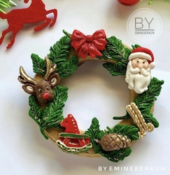 Paku Malzeme - Silikon kalıp Christmas Elements; 13,2*11 cm (1)