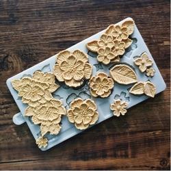 Paku Malzeme - Silikon kalıp Crochet Flowers; 20,7*12 cm