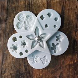 Paku Malzeme - Silikon kalıp Dolgu Çiçekleri; 10,3 cm