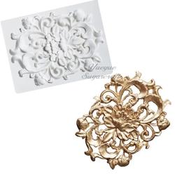 Paku Malzeme - Silikon kalıp Engraved Ornament; 12,3*9,2 cm
