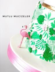 Paku Malzeme - Silikon kalıp Flamingo&Monstera; 10,5*10 cm (1)