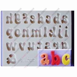 Paku Malzeme - Silikon kalıp Fun Font küçük harfler; 13*10,8 cm
