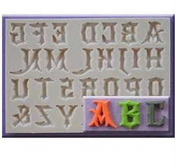 Paku Malzeme - Silikon kalıp Gotik büyük harfler