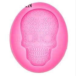 Paku Malzeme - Silikon kalıp Retro Skull; 6*4 cm