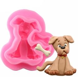 Paku Malzeme - Silikon kalıp Sevimli Köpek; 4,5*4,5 cm
