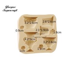 Paku Malzeme - Silikon kalıp Vintage Pots; 8,7*8,5 cm (1)