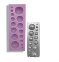 Paku Malzeme - Silikon kalıp Yarımküreler; 14*4,5 cm