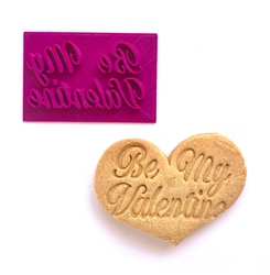 Paku Malzeme - Stamp kaşe Be My Valentine; 7,2*4,2 cm