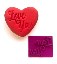 Paku Malzeme - Stamp kaşe Love You; 6,6*5,6 cm